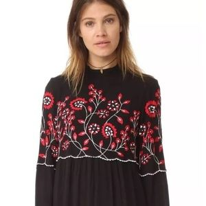 PARKER WOMEN SADIE EMBROIDERED LONG SLEEVE DRESS